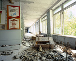 Gas masks Pripyat Ukraine 2003 by Juha Tolonen