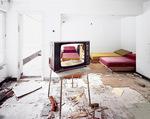 Television abandoned hotel complex Porombka Poland 2004