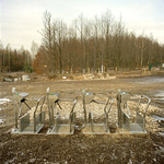 Turnstyles. Ski resort built on coal waste. Belchatow Poland 2004
